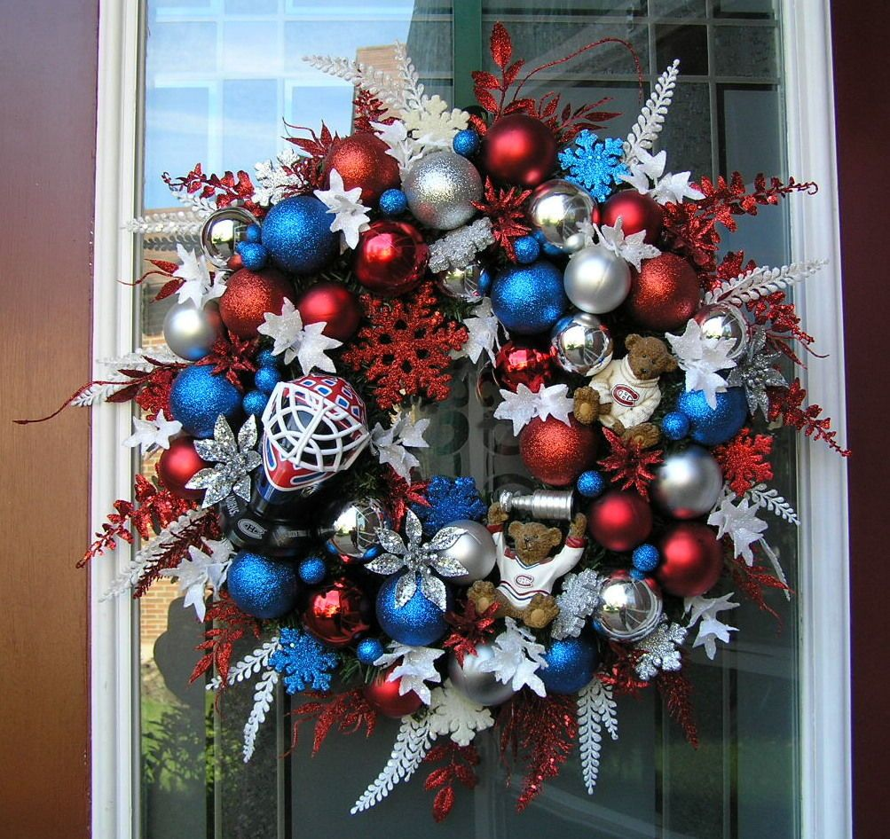 Montreal Canadiens Habs Hockey Christmas Wreath