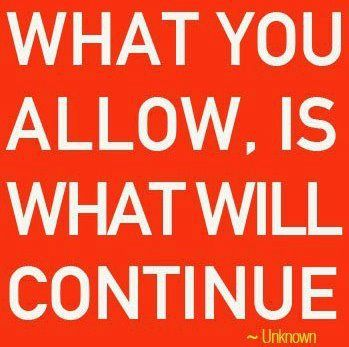 So what will you allow?
