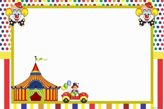 Imagenes De Payasitos Y Circo Para Tarjetas Invitaciones