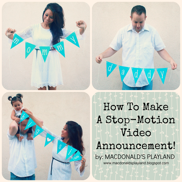 make a baby announcement
