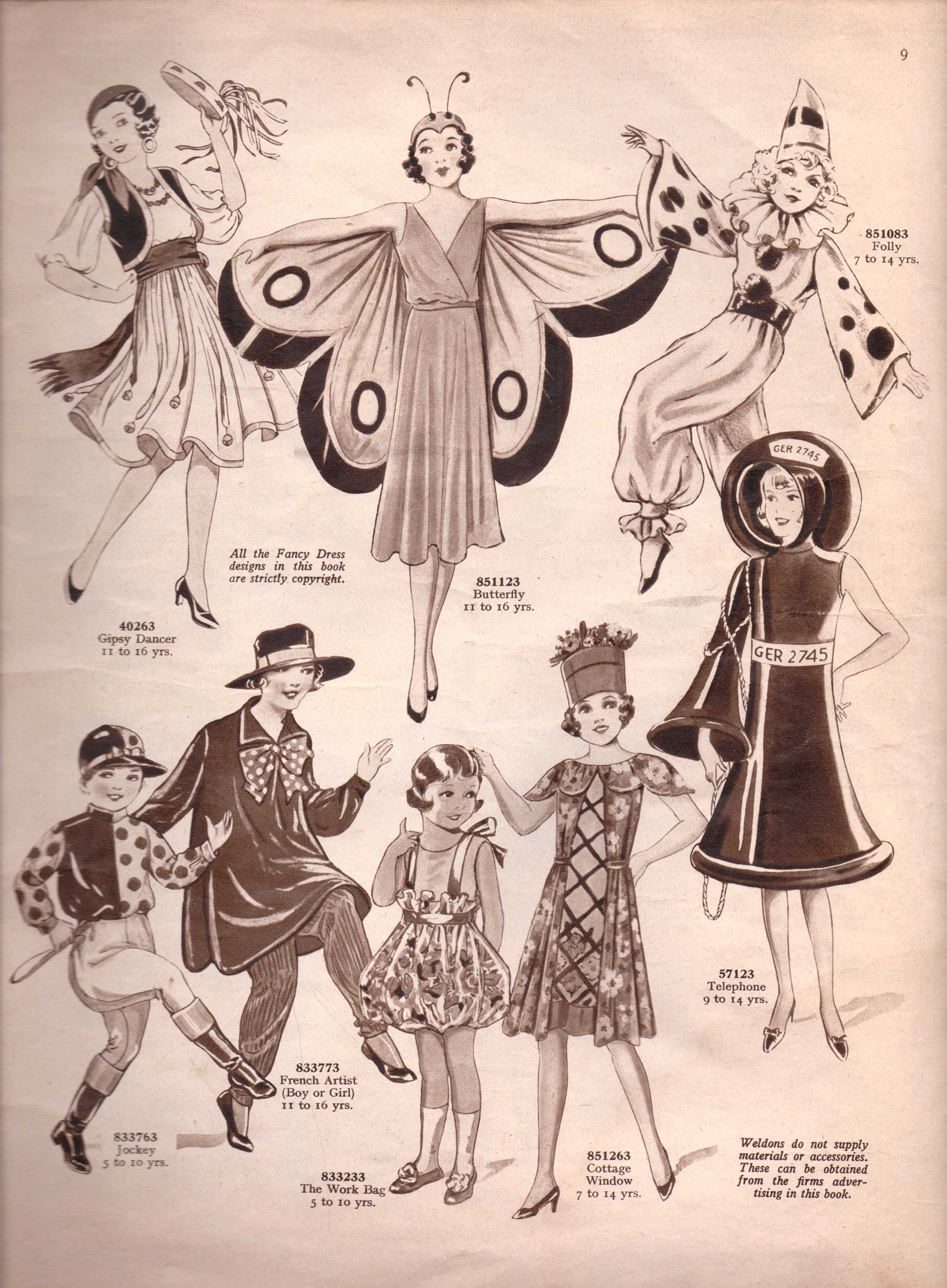Vintage Sewing Pattern Catalogue Fancy Dress For Children In 2020 Vintage Halloween Costume Vintage Costumes Vintage Sewing Patterns