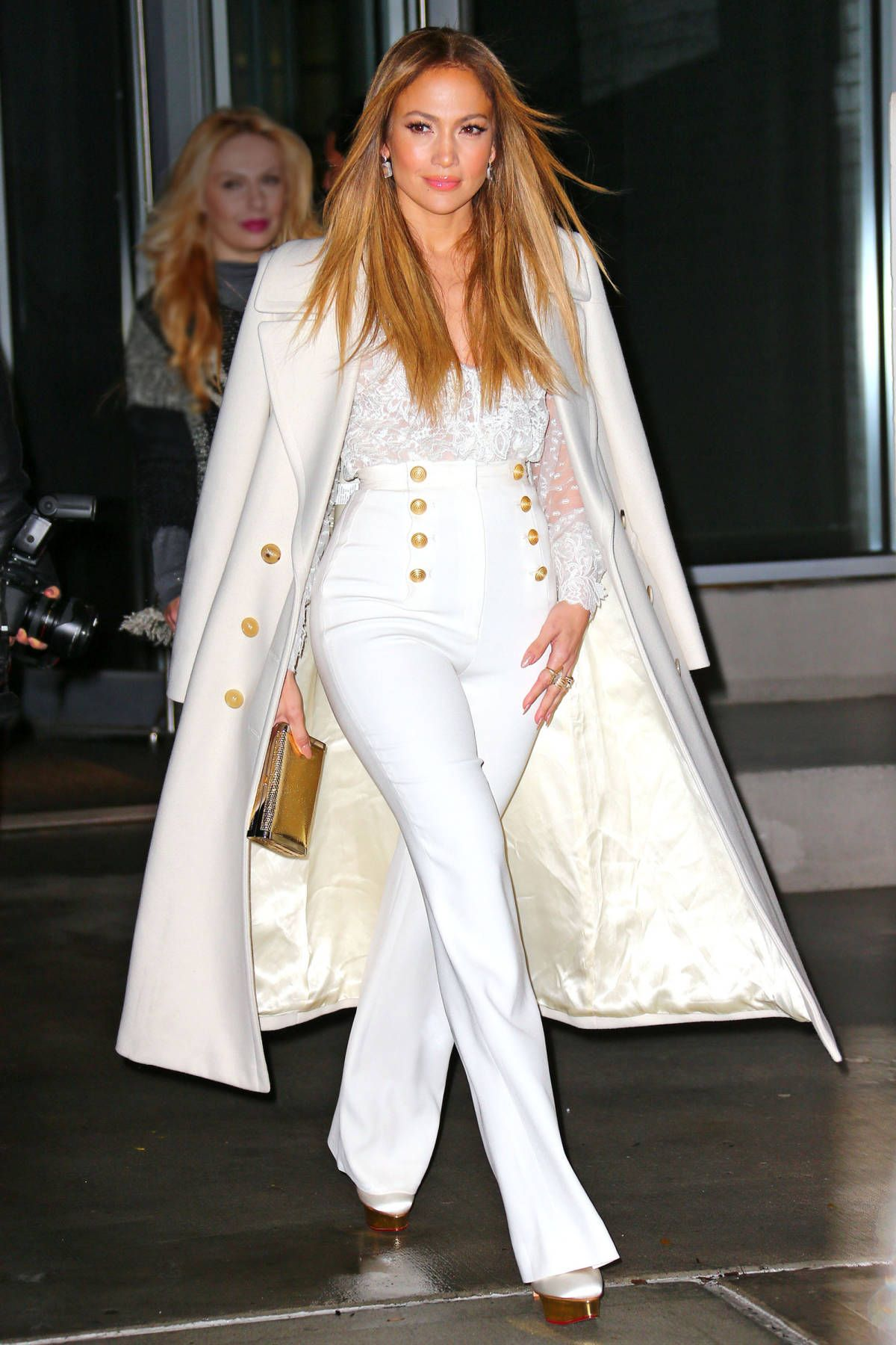 450f81b0feb343 Who  Jennifer Lopez What  Sailor Pants Why  The actress is all-glamour