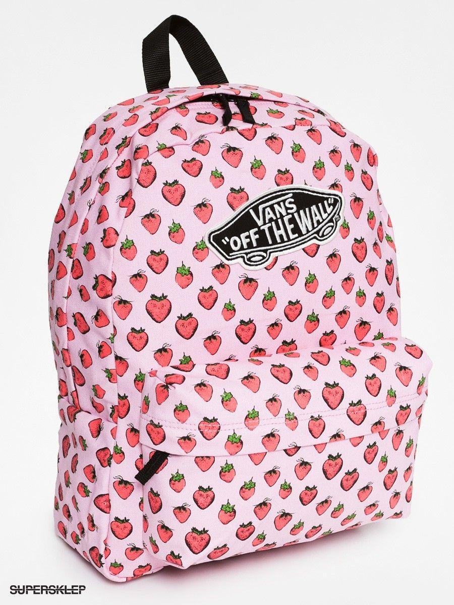 c8dee1ded2 Plecak Vans Realm Wmn (strawberries) | killah wardrobes | Vans ...