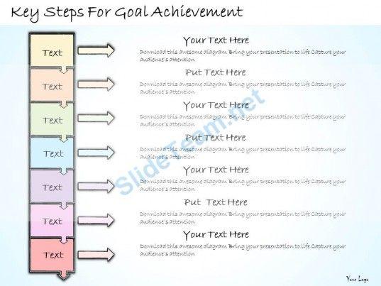 1113 business ppt diagram key steps for goal achievement powerpoint, Achievement Presentation Template, Presentation templates