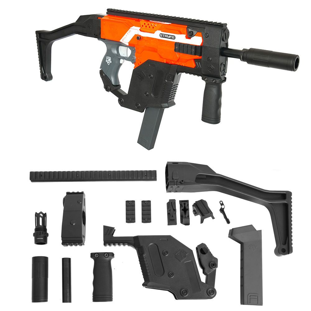 Worker MOD Kriss Vector Imitation Kit Combo 13 Items for Nerf STRYFE Modify  Toy