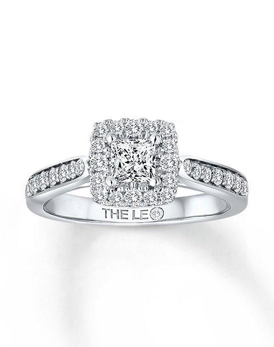 d0424d953 Kay Jewelers engagement ring from Leo Diamond collection in white gold with  princess cut I Style