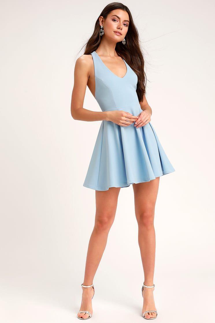 Lawson Light Blue Skater Dress in 2019  d8fd4ef2b