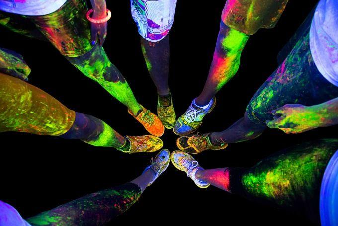 Resultado de imagen para color run night