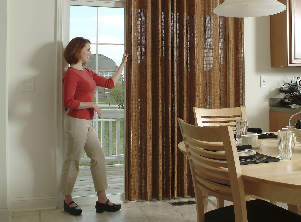 The Bamboo Accordion Folding Door Can Be Used As A Room Divider
