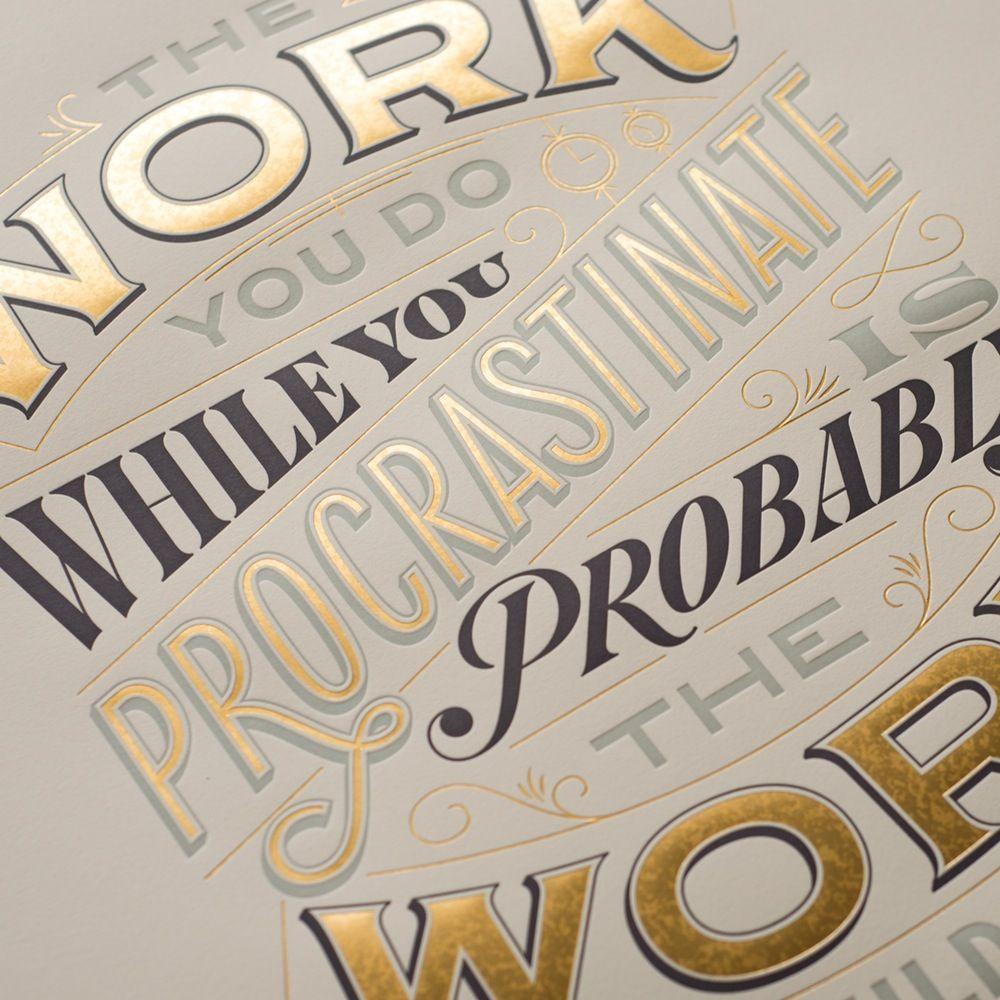 Image of Procrastiworking Poster