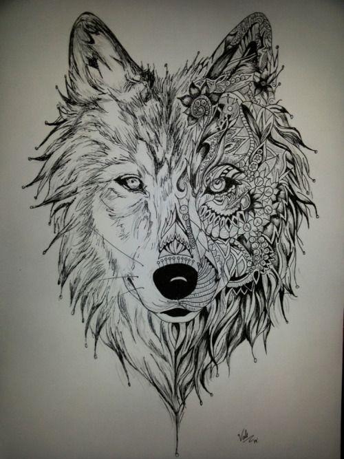 Dibujo De Un Lobo A Lapiz Buscar Con Google Lobo Dibujo A