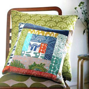 beautiful scrap cushion
