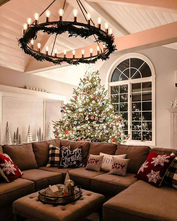 40 Gorgeous Christmas Tree Ideas For 2021 Beautiful Dawn Designs In 2021 Christmas Living Rooms Christmas Decorations Living Room Farmhouse Christmas Decor Living room christmas decorations 2021
