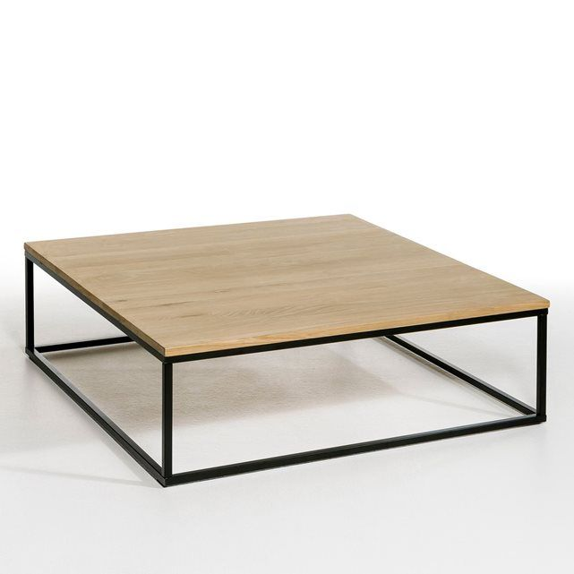 Table Basse Carree Chene Massif Aranza Table Basse Carree Table Basse Et Table Basse Bois