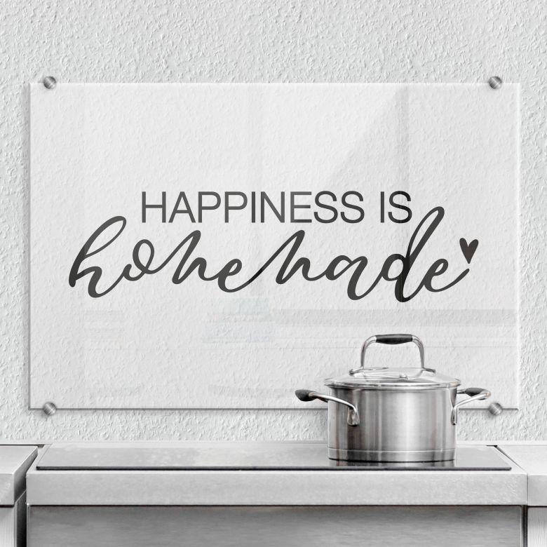 Pannello paraschizzi Happiness is Homemade La felicità è