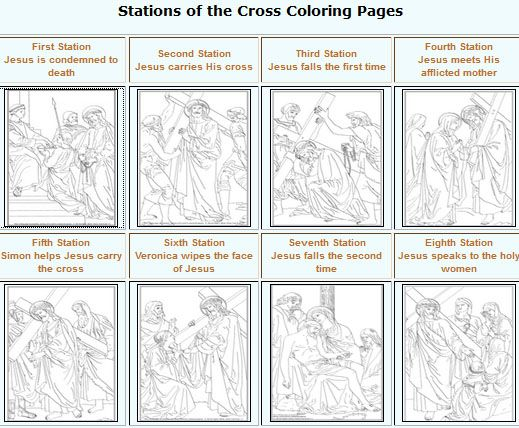 Stations Of The Cross Coloring Pages In 2020 Cross Coloring Page
