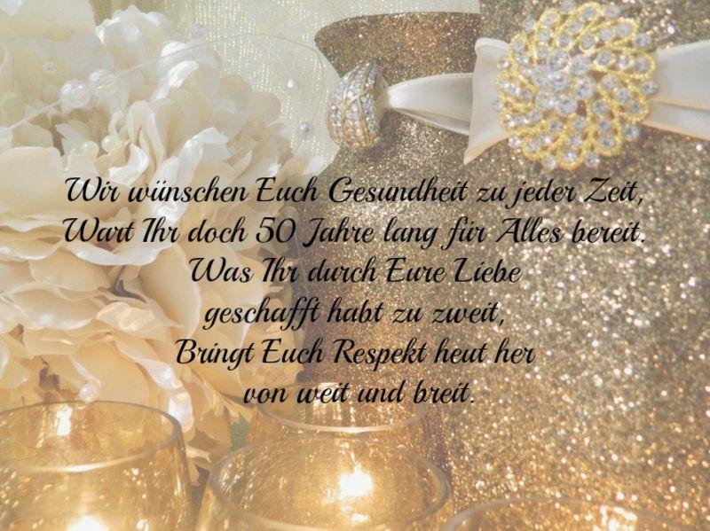 Die Besten Sprüche Und Wünsche Zur Goldene Hochzeit