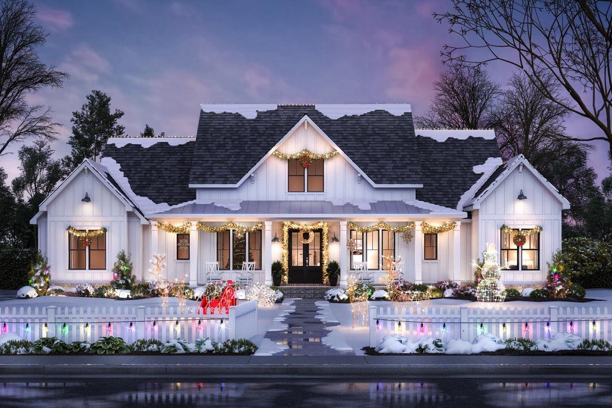 Plan 20SM Perfectly Balanced 20 Bed Modern Farmhouse Plan in ...