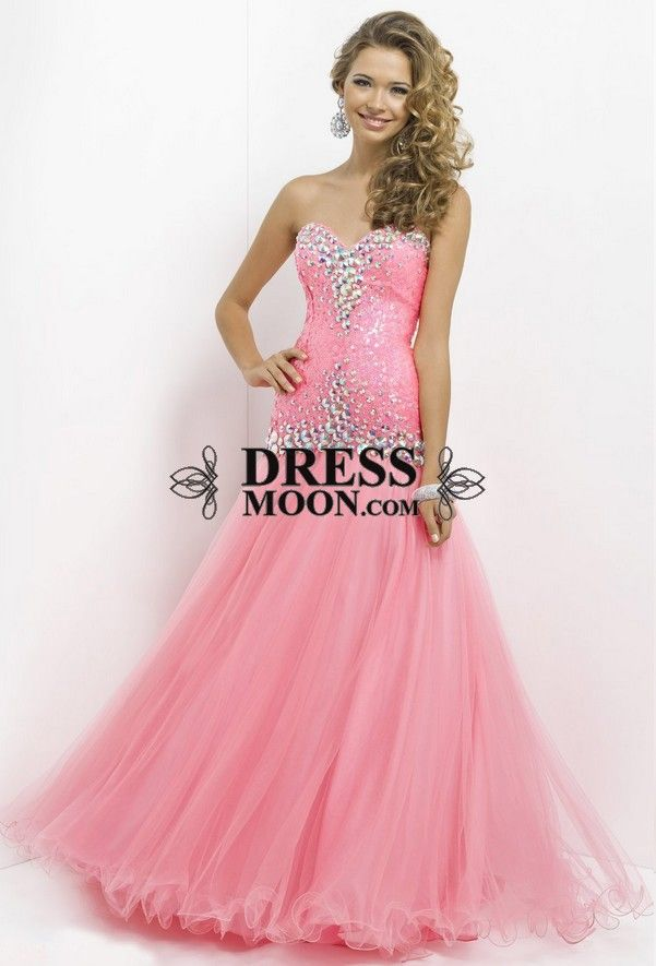 I like this - Mermaid Sequins and Tulle Pink Prom Dresses. Do you think I should buy it?