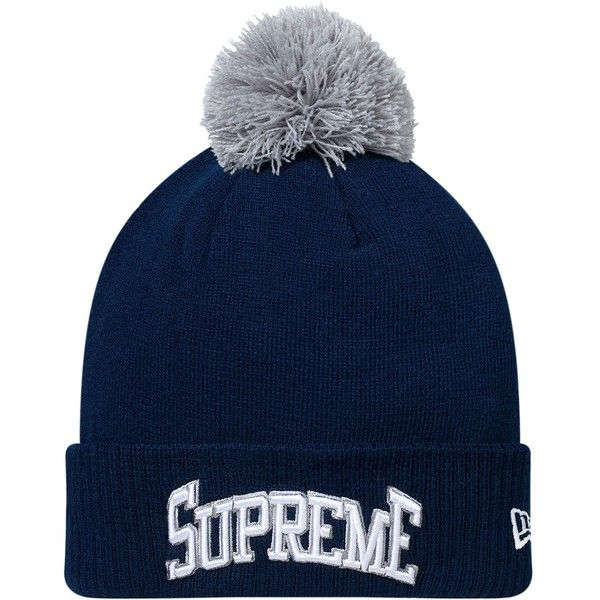 801c9d0c42e ... supreme new era arc beanie navy 34 liked on polyvore featuring