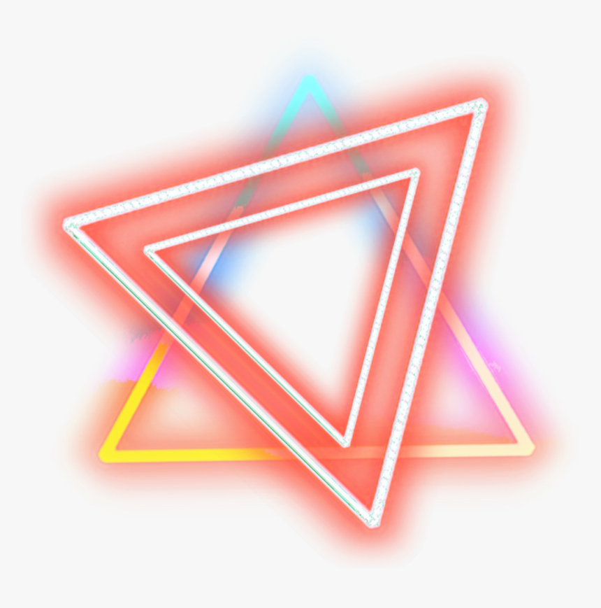 Neon Rainbow Lights Glow Frame Border Effect Triangle Neon Light Png Transparent Png Is Free Transparent Png Imag Neon Symbol Neon Png Image Stickers