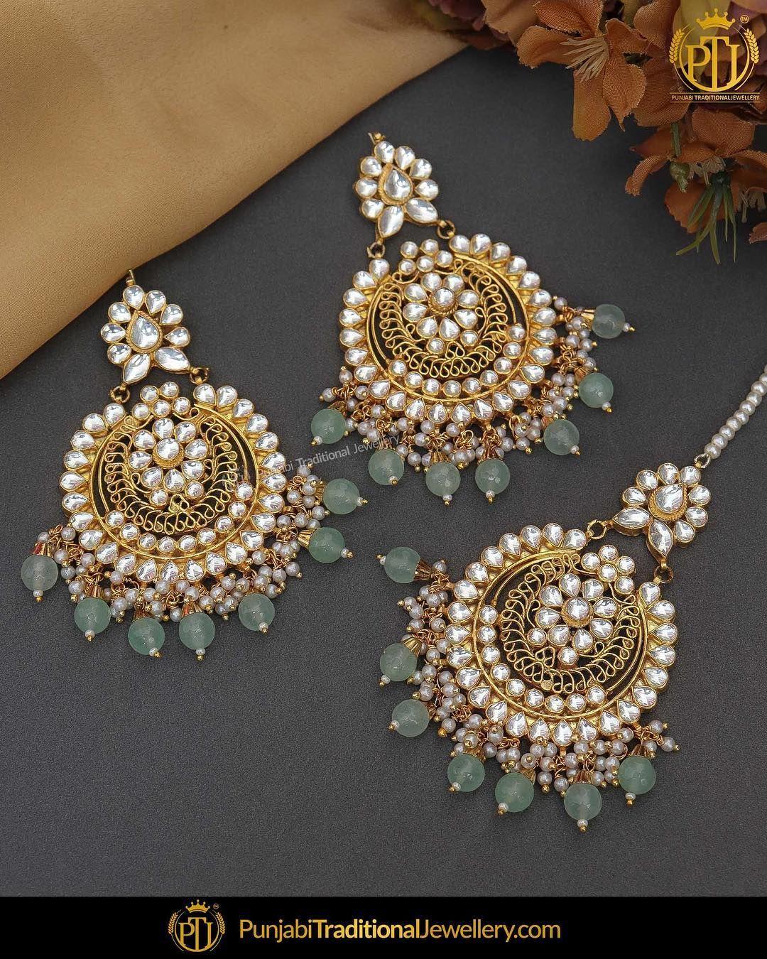Bridal Jewellery Wedding Necklace set with earrings Punjabi Jewellery Indian Jewellery tika /& paasa Pakistani Jewellery