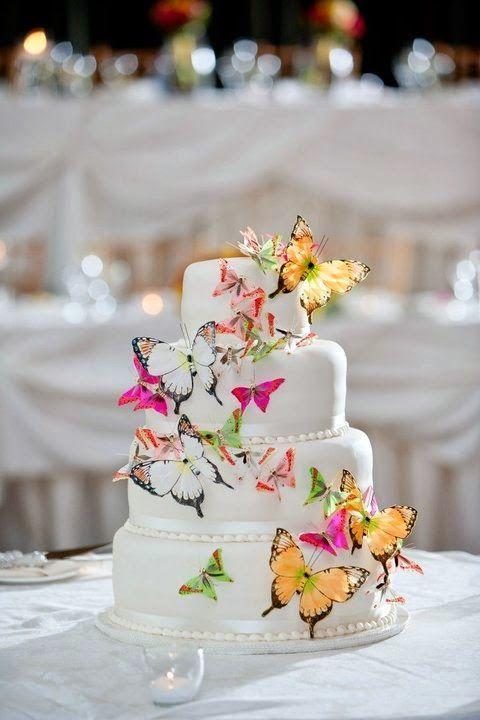 Butterflyweddingtheme Butterfly Wedding Cake Http