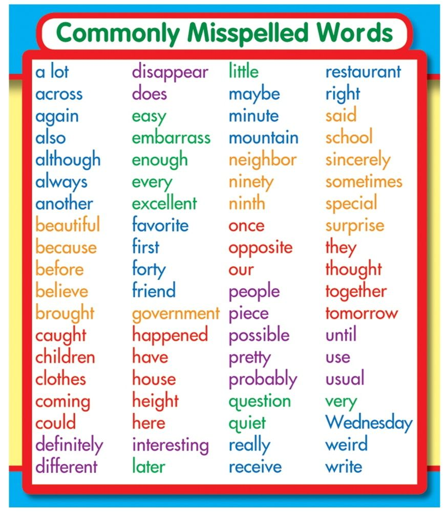 Commonly Misspelled Words Study Buds Are The Perfect Size For Binders And Notebook Cover Concept Reminders They Can Be Used Desktop References