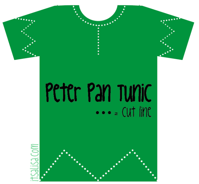 Peter Pan Shirt Pattern for Halloween Costume. Very easy DIY all you ...