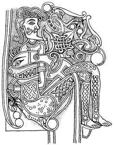 From the Book of Kells | Adult coloring pages | Viking art ...