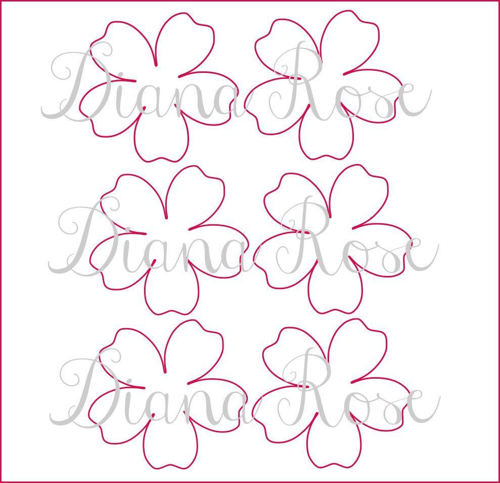 Giant Paper Flower Templates Printable Demirediffusion