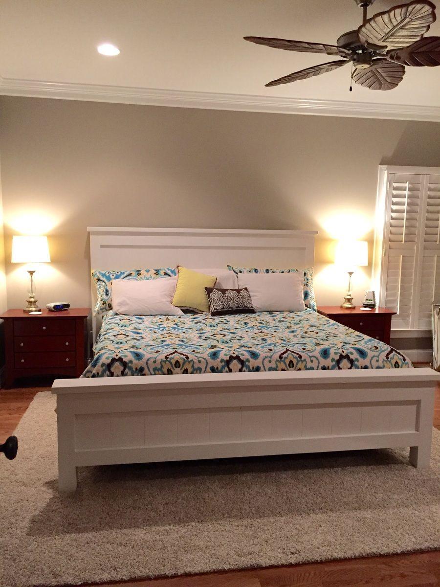 Farmhouse king bed ana white bedroom furniture design