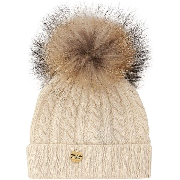 a329ea3f Holland Cooper Racoon Pom Pom Hat (£120) ❤ liked on Polyvore ...
