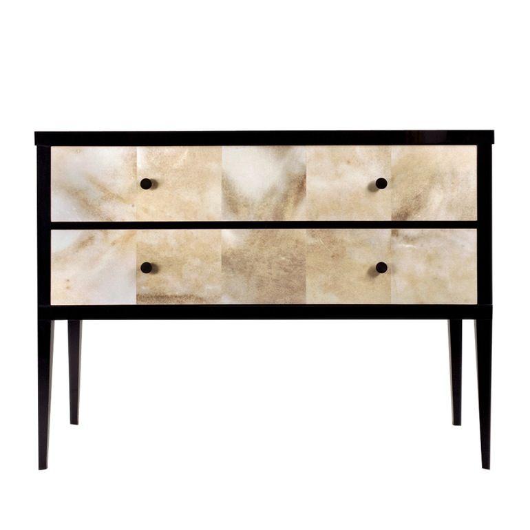 Biedermeier Commode  Art Deco, MidCentury  Modern, Lacquer, Parchment, Wood, Cabinet by Birgit Israel