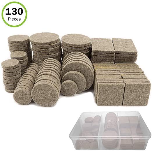 Amazon Com Evelots Furniture Felt Pads Self Stick 5 Sizes Resistant Storage Case 130 Pieces Home Imp Felt Furniture Pads Furniture Pads Loft Decor Industrial