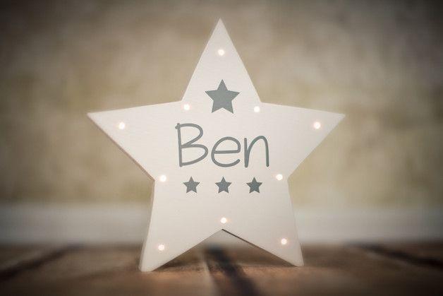 Lampe fürs Kinderzimmer: Schlummerlicht als Stern mit ...
