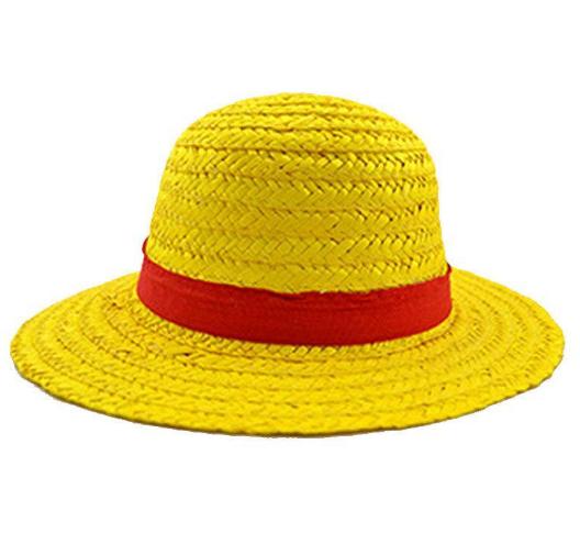 One Piece Luffy Straw Hat Pirates King Cosplay Yellow Beach Cap Onepiece Luffy Strawhat Pirates King Cosplay Yellow Beach Cap
