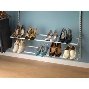 ClosetMaid ShelfTrack 24 In 42 White Expandable Shoe Rack 28440 At
