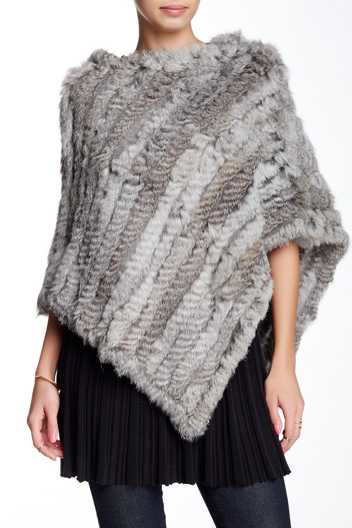 0f614d47a Love Token | Keira Dyed Genuine Rabbit Fur Cape | Fashion | Fur cape ...