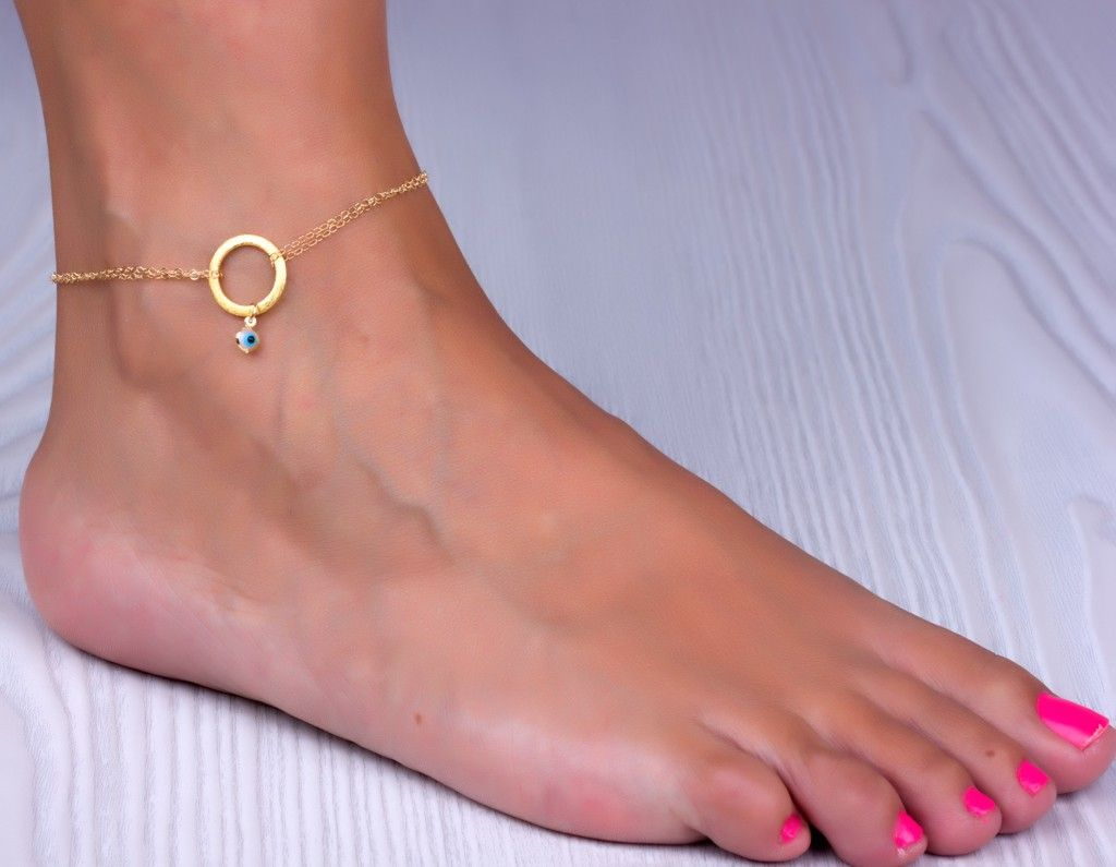 bead yellow bracelet gold jewelry hearts and ankle avital link co anklet i