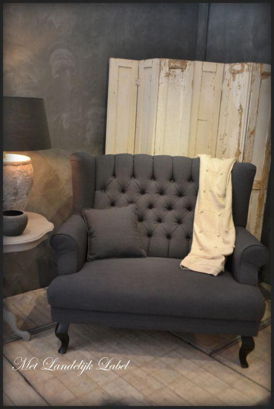 Fauteuil kelly fauteuils en hockers met landelijk label for Stoel woonkamer