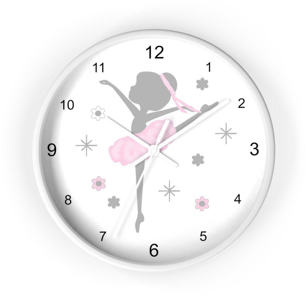 Pink Ballerina Clock Wall Decor Baby Girl Nursery Room Decor Nursery Room Decor Dance Decorations