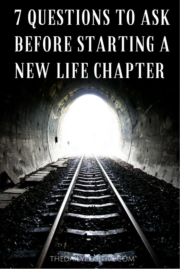 The urge to start a new chapter in life occurs after big endings or an extended period of boredom. It�s not possible to say goodbye to your old habits and reinvent yourself in a day.  So before you begin your new journey, answer these seven questions to k