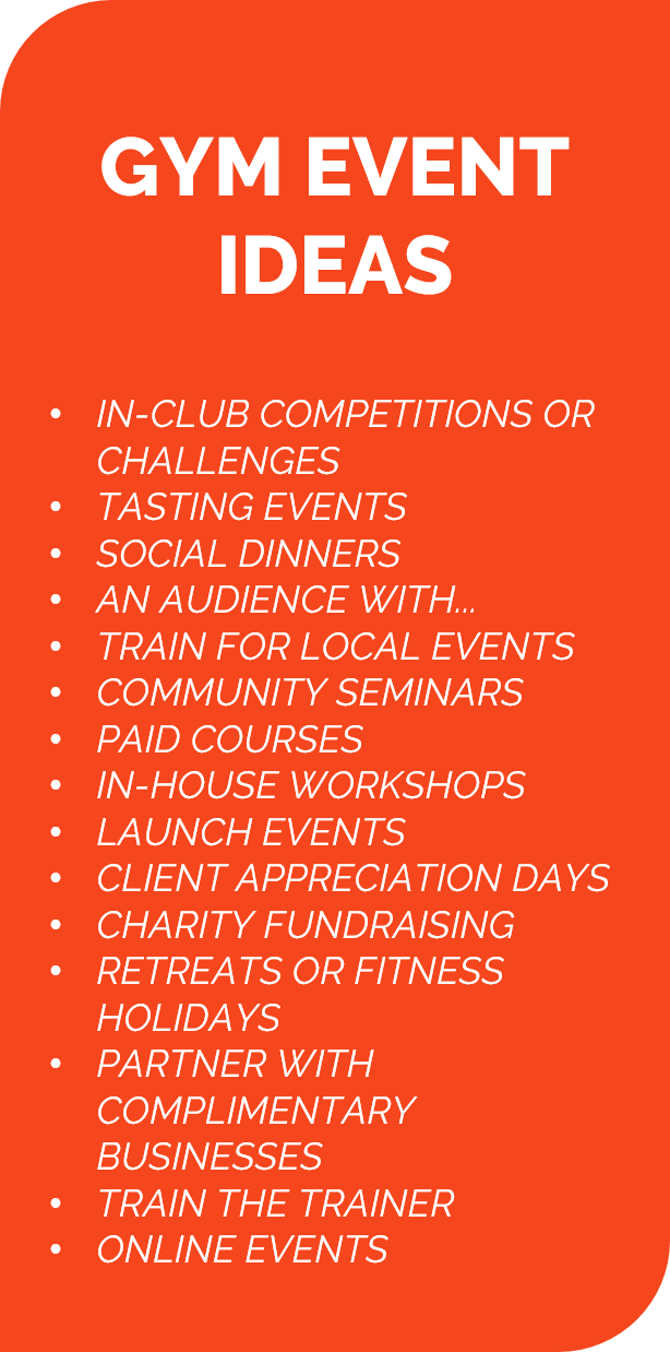 15 Awesome Gym Event Ideas That Ll Boost Your Fitness Business Fitness Business Gym Plan Fitness Event