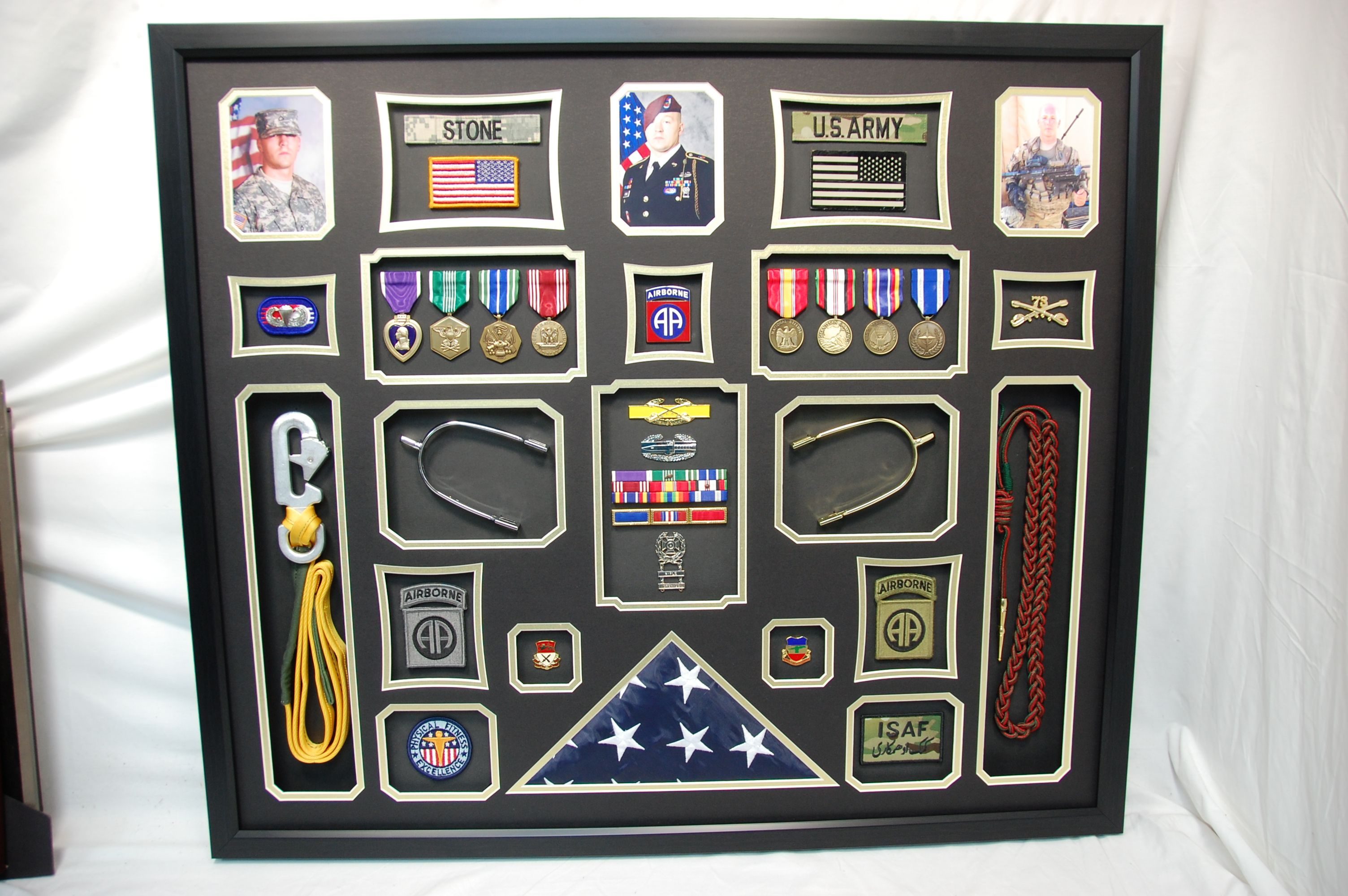 30 X 34 Us Army Cavalry Shadow Box We Mounted A Static Line And Boot Spurs Into This Custom Military Shadow B Military Shadow Box Shadow Box Military Gifts