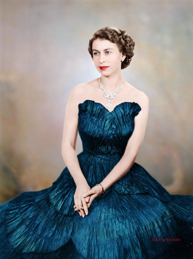 Queen Elizabeth II Colorized by Klimbims http://klimbims ...