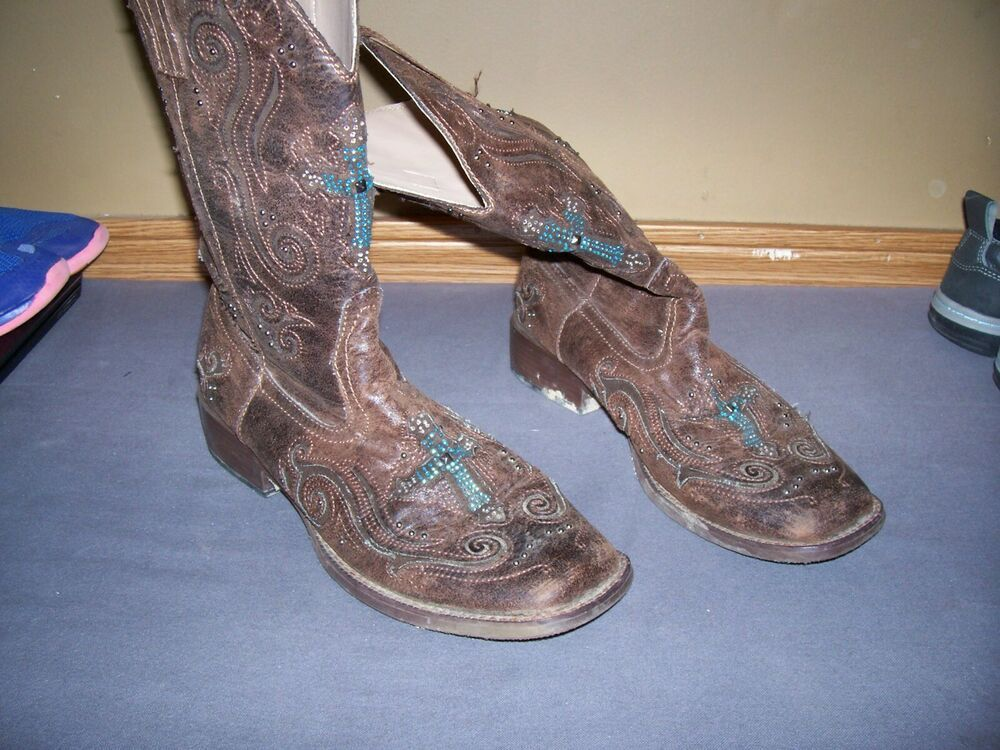 used womens roper boots size 10.5 #fashion #clothing #shoes