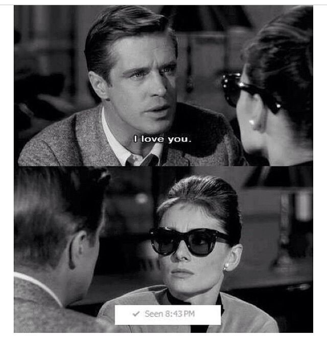 I Love You Seen Breakfast At Tiffany S Holly Golightly Whatsapp Funny Pictures Funny Pictures Best Funny Images