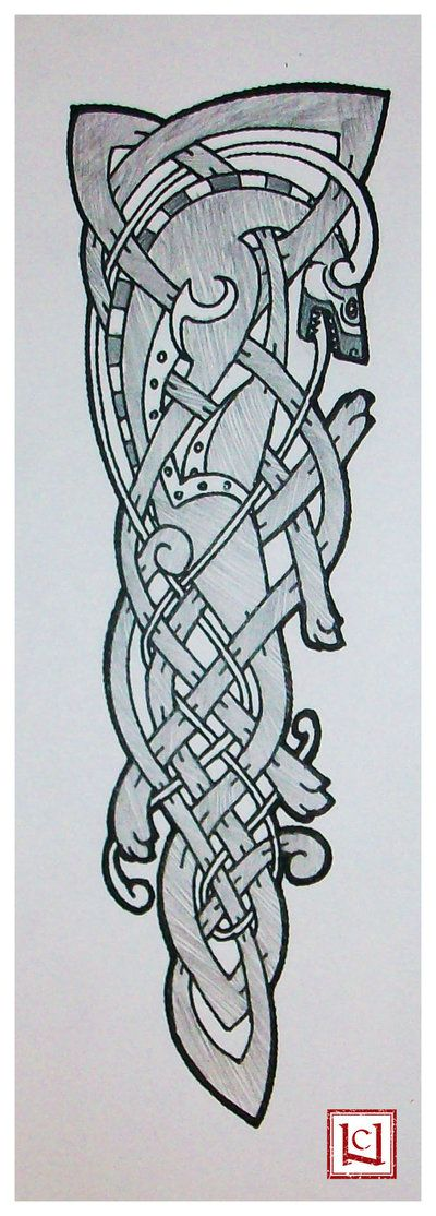 celtic wolf tattoo quickie by one rook keltische. Black Bedroom Furniture Sets. Home Design Ideas