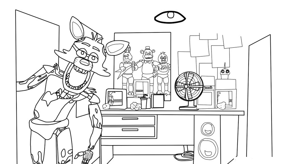 funtime foxy fnaf coloring pages  fnaf coloring pages